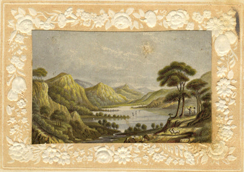 Lake View - Original mid-19th-century colour aquatint print