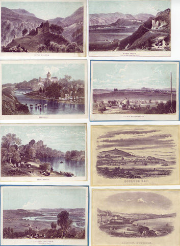 Scottish Scenes - Original early 20th-century watercolour painting
