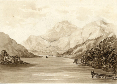 Loch Tay, Kenmore, Scottish Highlands - Late 19th-century watercolour painting
