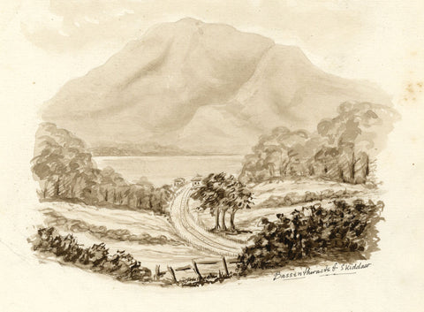 Bassenthwaite, Skiddaw, Cumbria -Original late 19th-century watercolour painting