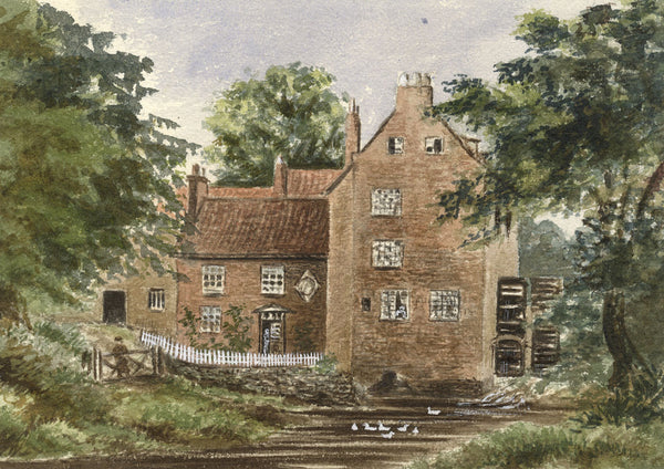 Blackwell Mill, Darlington, Durham - Late 19th-century watercolour painting