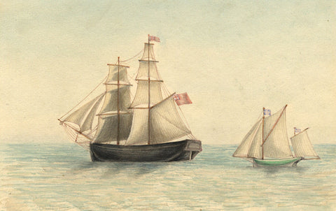 Arthur Prichard Harrison, Schooner and Yawl - Original 19th-century watercolour