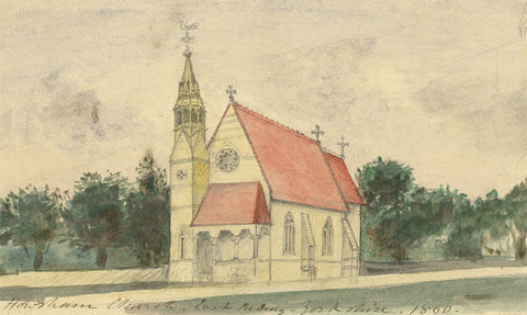 Arthur Prichard Harrison, Howsham Church - Original mid-19th-century watercolour