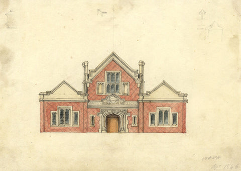 Arthur Prichard Harrison, Worthing Hospital - 1846 architectural elevation