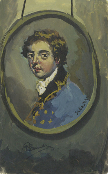Thomas O'Donnell, Georgian Portrait Miniature - Contemporary gouache painting