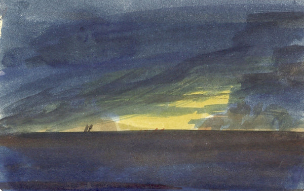 Thomas O'Donnell, Sunrise at Sea - Original contemporary watercolour painting