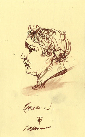 Thomas O'Donnell, Male Portrait in Profile - Contemporary pen & ink drawing