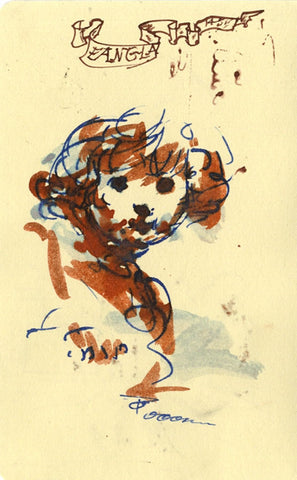 Thomas O'Donnell, Child Portrait Sketch - Contemporary pen & ink drawing