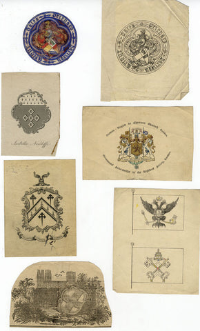 Armorial Heraldic Designs & Ephemera relating to Arthur Prichard Harrison 1850s