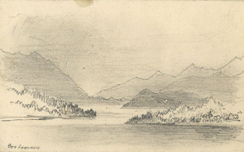 Thomas J. Marple, Ben Lomand Loch - Original 19th-century graphite drawing