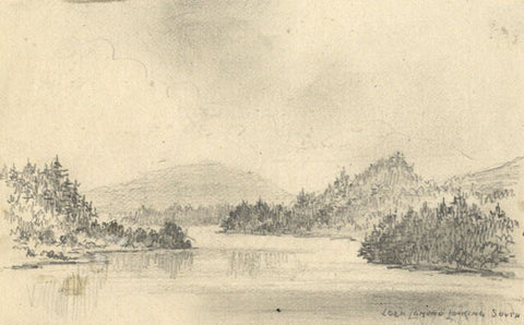 Thomas J. Marple, Loch Lomand Lake - Original 19th-century graphite drawing