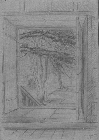 Thomas J. Marple, Dorothy's Doorway, Haddon Hall - 19th-century graphite drawing