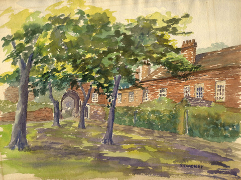 Peter Stuckey, Orchard Garden House - Original contemporary watercolour painting