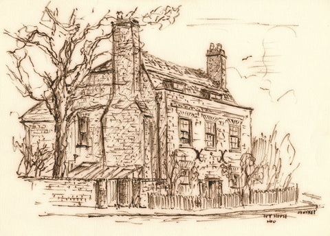 Peter Stuckey, Ivy House, Hoo, Medway - Original contemporary pen & ink drawing