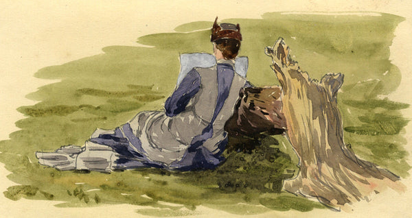 Pickford Robert Waller, Lady Reading - Original late 19th-century watercolour