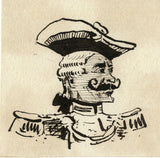 Pickford Robert Waller, Caricature of Officer - 19th-century ink drawing