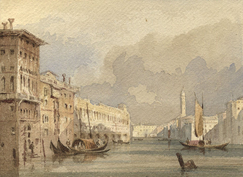 Attrib. John Henderson 1764–1843, Grand Canal, Venice Original C19th watercolour