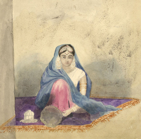 Henry Bryant, Indian Lady - Original early 19th-century watercolour painting