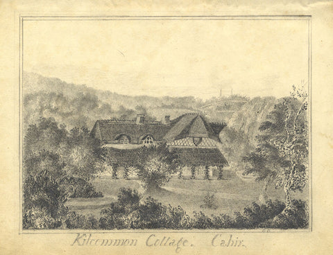 C.O., Kilcommon Swiss Cottage, Ireland - Early 19th-century graphite drawing