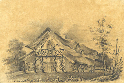 E. Riall, Cahir Swiss Cottage, Ireland - Original 1824 graphite drawing