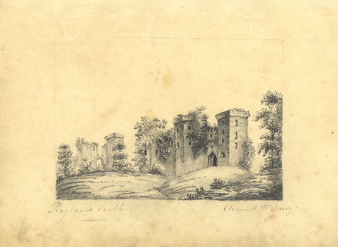 Clement Wigney, Raglan Castle, Wales - Early 19th-century graphite drawing
