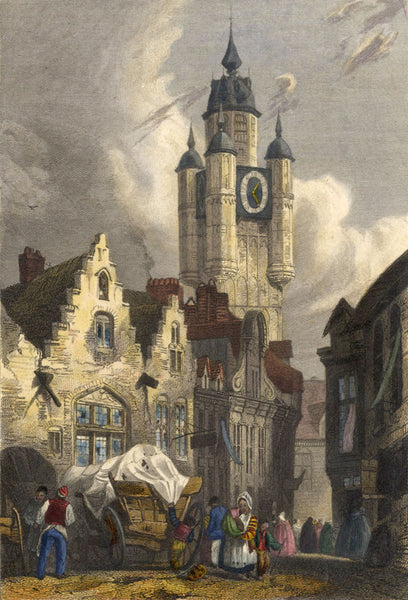 After Richard Parkes Bonington, Clock Tower - Original 19th-century engraving