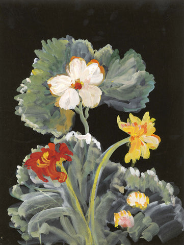 Gustave Bourgogne, Large Flowers - Original mid-20th-century gouache painting
