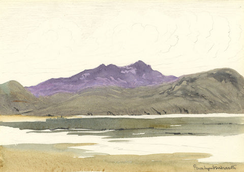 Barry Pittar RBA, Valley Mountain View - Early 20th-century watercolour painting