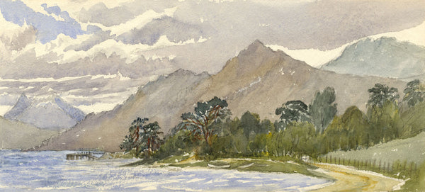 Loch Lomond Shore, Rowardennan - Original late 19th-century watercolour painting