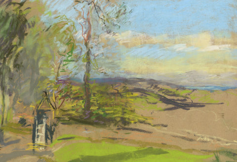 Alice Des Clayes ARCA, Spring Landscape - early 20th-century pastel drawing
