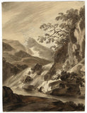 Attrib. John Varley OWS, Mountain Landscape; Cat Studies - 18th-century drawings