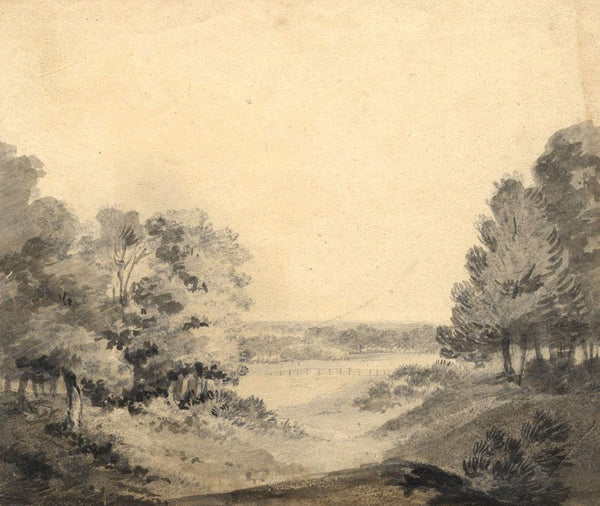 William Freeman Senior, Felbrigg Park Norfolk -19th-century watercolour painting