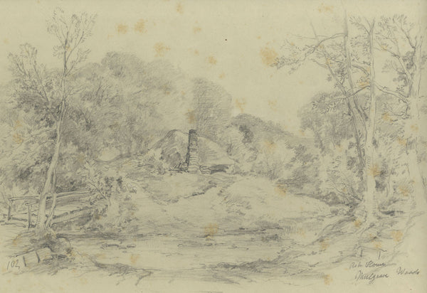 Ralph Stubbs, Ash Holm Works, Mulgrave Woods -Late 19th-century graphite drawing