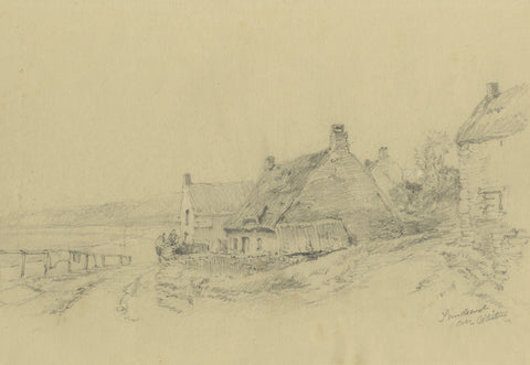 Ralph Stubbs, Sandsend Coast, Whitby-Original late 19th-century graphite drawing