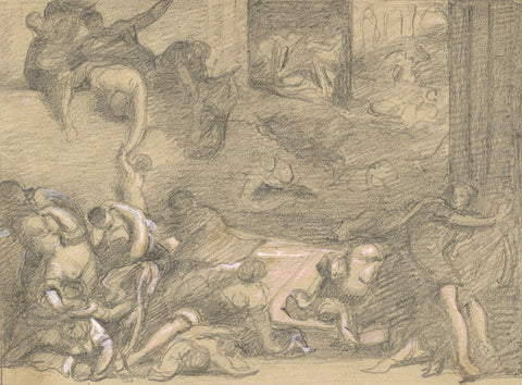 Tintoretto's Massacre of the Innocents  - late 19th-century graphite drawing