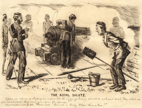 Pickford Robert Waller, The Royal Salute - Late 19th-century pen & ink drawing