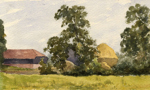 Pickford Robert Waller, Thatched Huts - Late 19th-century watercolour painting