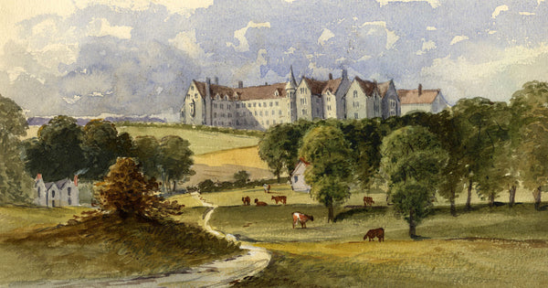 Pickford Robert Waller, Castle on a Hill -Late 19th-century watercolour painting