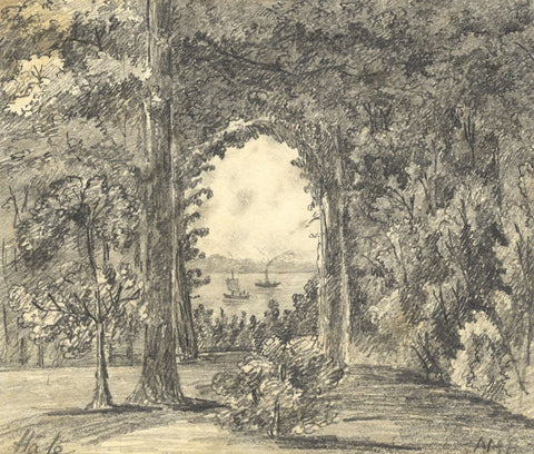 A.M.B. , Archway to the Sea, Hale, Hampshire - Mid-19th-century graphite drawing