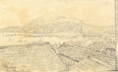 Rooftops, Bad Homburg vor der Höhe, Germany - Mid-19th-century graphite drawing