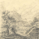 Château de la Bâtie, Vienne, France - Early 19th-century graphite drawing