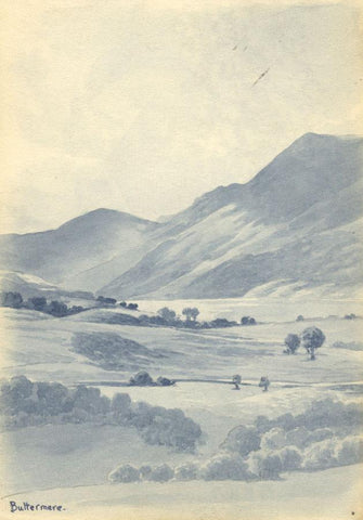H. Ratcliffe, Buttermere Landscape - Original early 20th-century watercolour painting