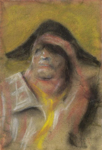 Spanish Matador - Original 1954 chalk drawing