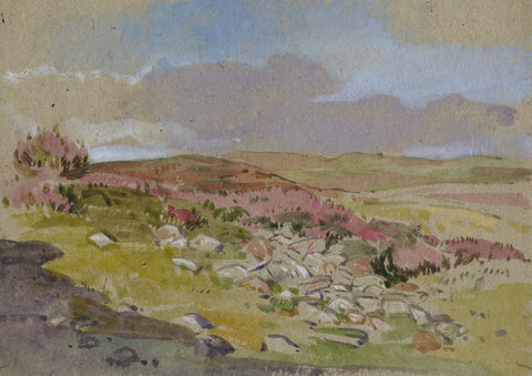 John Murray Thomson RSA, Rocky Landscape, Scotland -Mid-20th-century watercolour
