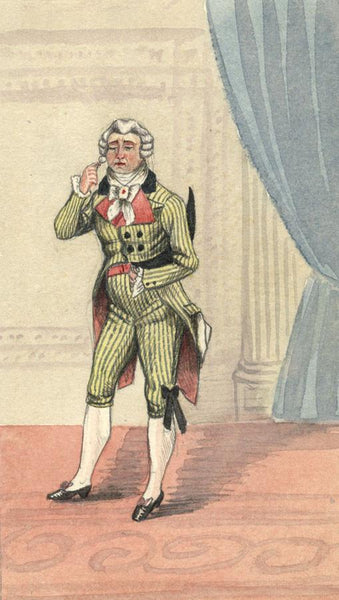 Albert Harcourt, The Character Larivaudiere - Original 19th-century watercolour