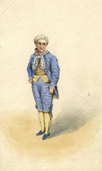 Albert Harcourt, Prince de Conti - Original late 19th-century watercolour