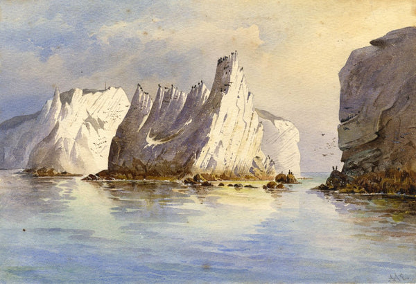 Ellis, The Needles, Isle of Wight - Original mid-19th-century watercolour painting