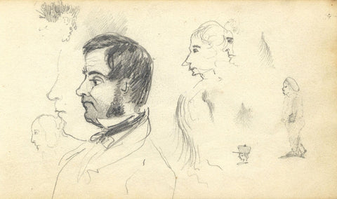 Edward Fitzgerald Campbell, Gentleman Portrait - 1840s graphite drawing