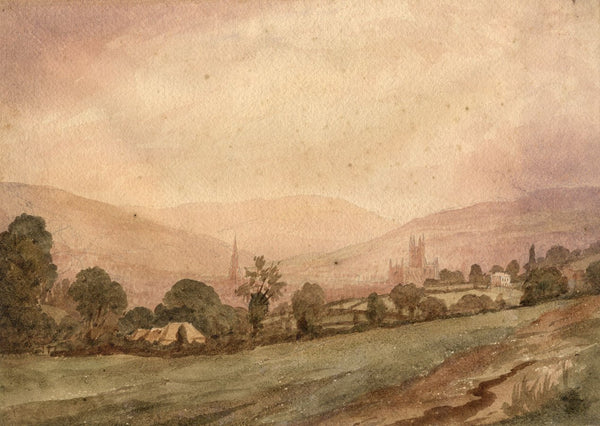 J.L. Petit, View of Bath - Original mid-19th-century watercolour