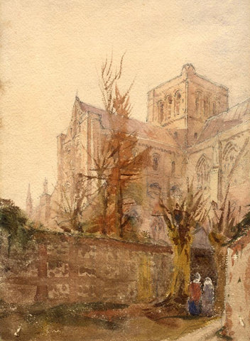 J.L. Petit, Winchester Cathedral - Original mid-19th-century watercolour